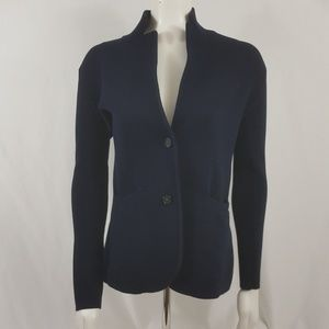 J. Crew navy blue cardigan sweater Sz XS
